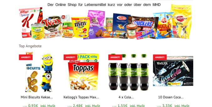 Geschäftsidee Abgelaufene Lebensmittel verkaufen MHD Ware